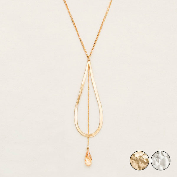 Holly Yashi: Celestine Drop Necklace