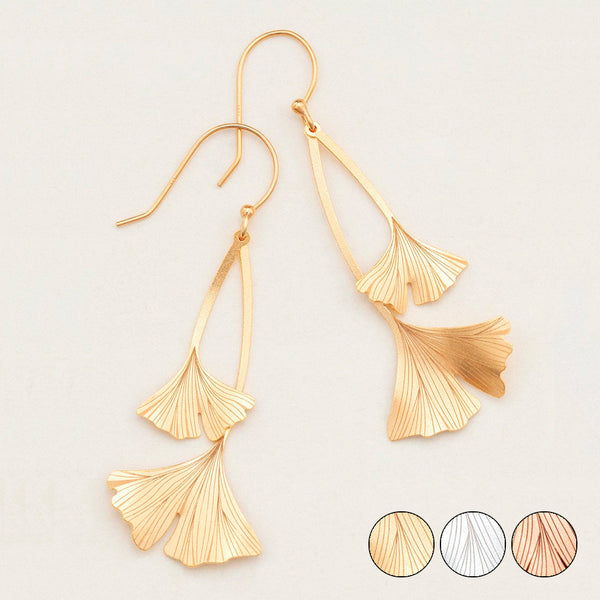 Holly Yashi: Ginkgo Drop Earrings