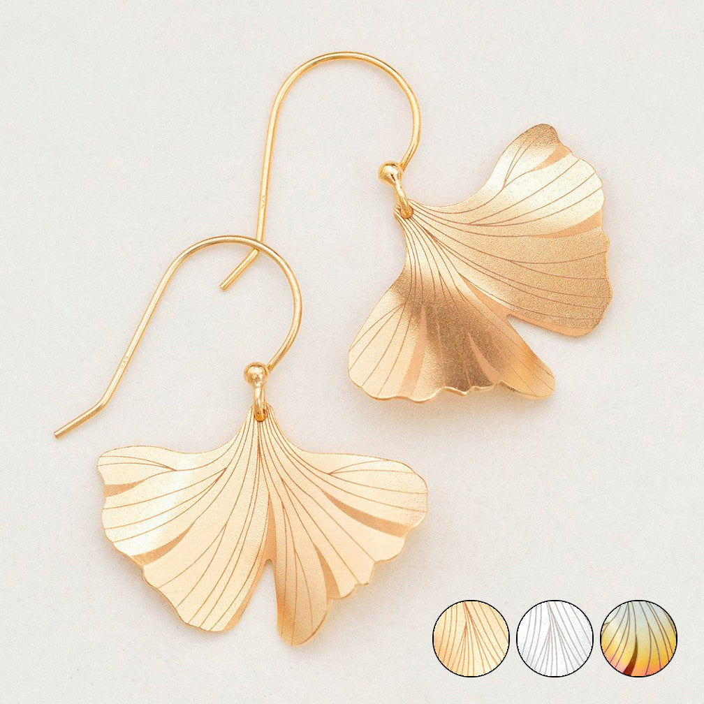 Holly Yashi: Ginkgo Earrings