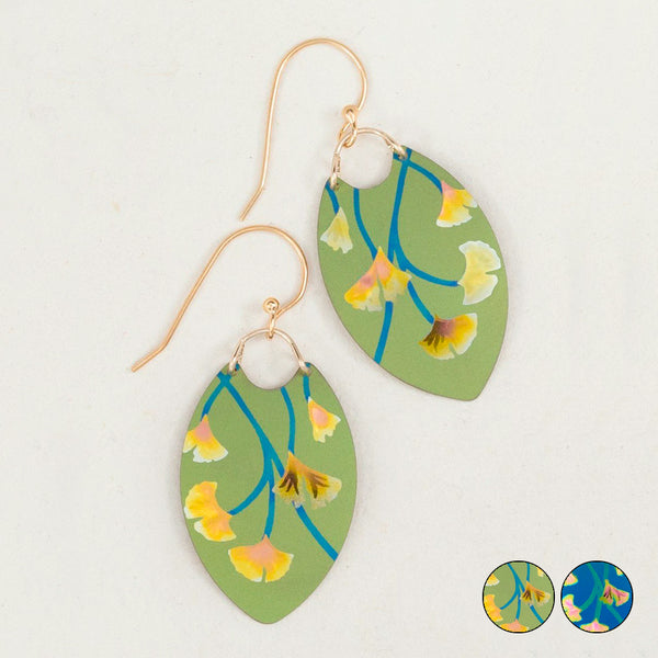 Holly Yashi: Ginkgo Leaf Earrings