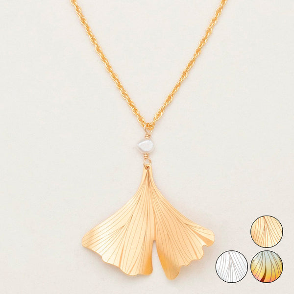 Holly Yashi: Ginkgo Pendant Necklace