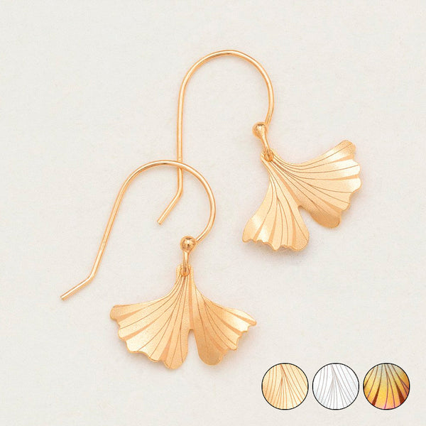 Holly Yashi: Ginkgo Petite Earrings