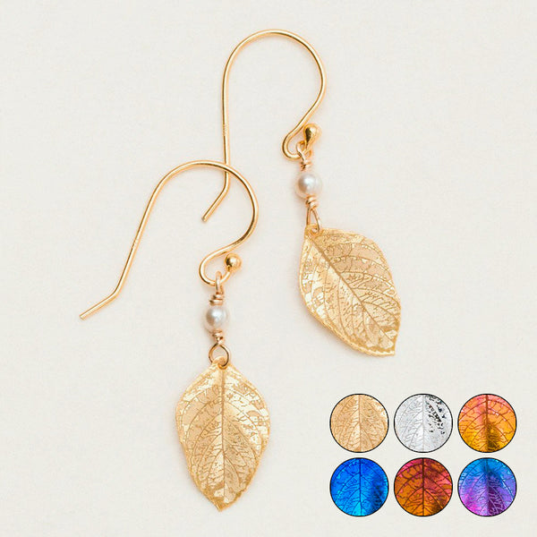 Holly Yashi: Healing Leaf Earrings