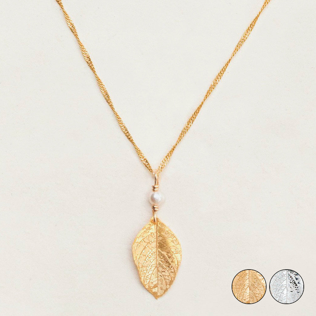 Holly Yashi: Healing Leaf Pendant Necklace
