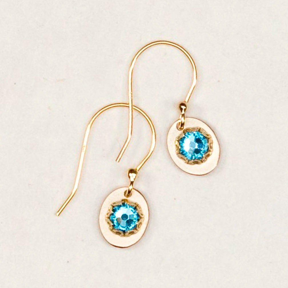 Holly Yashi: Julia Earrings, Aquamarine