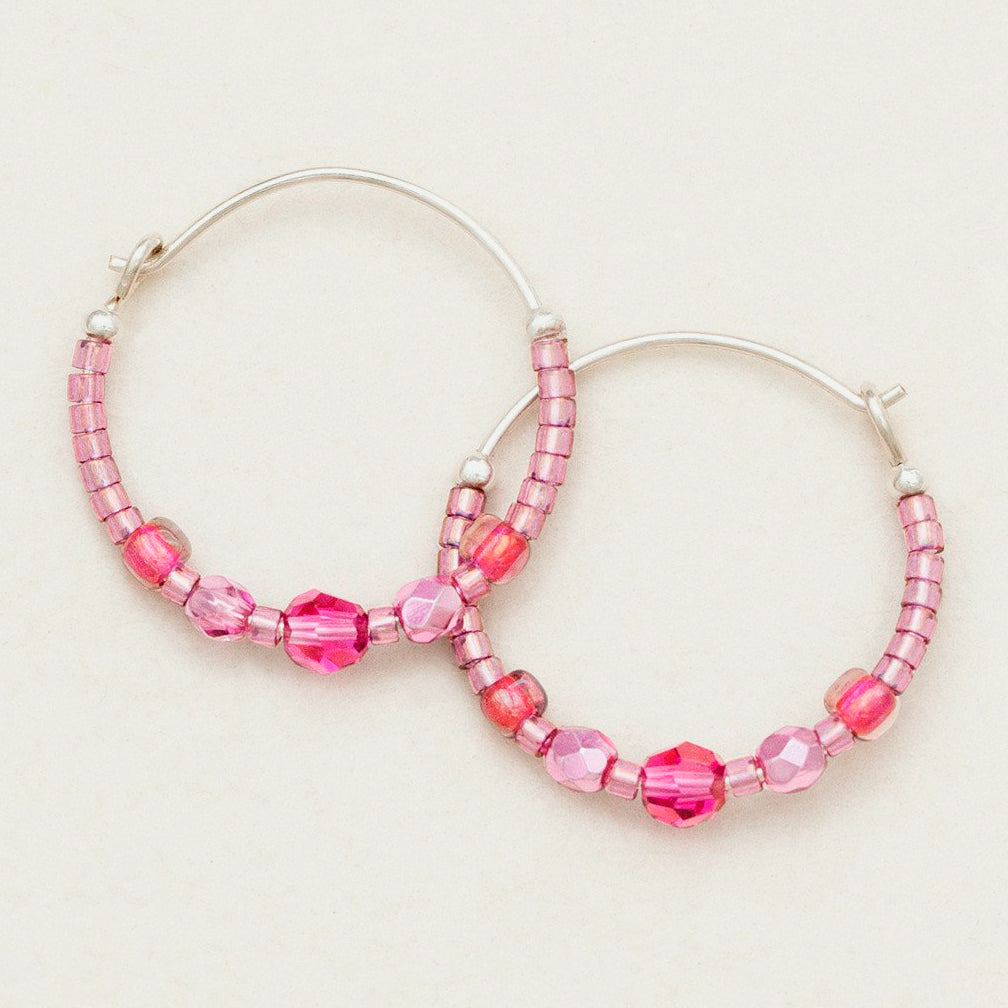 Holly Yashi: Sonoma Petite Glass Bead Hoops