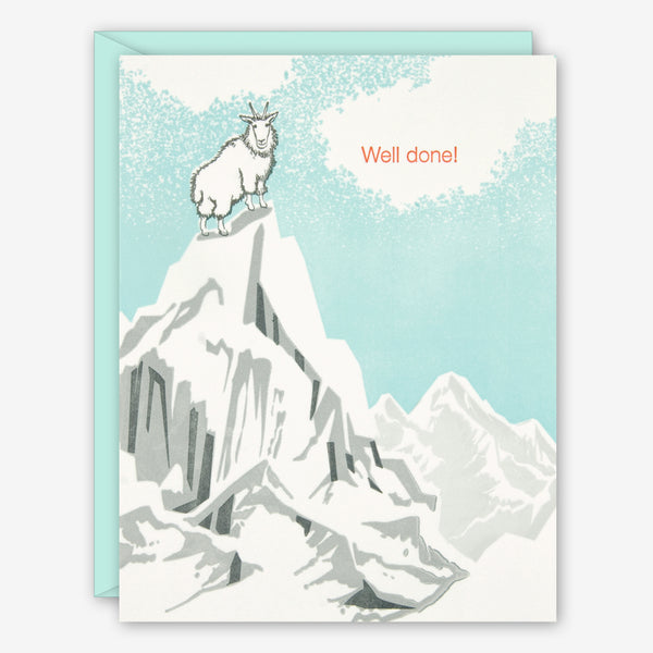 Ilee Papergoods: Graduation Card: Mountain Goat