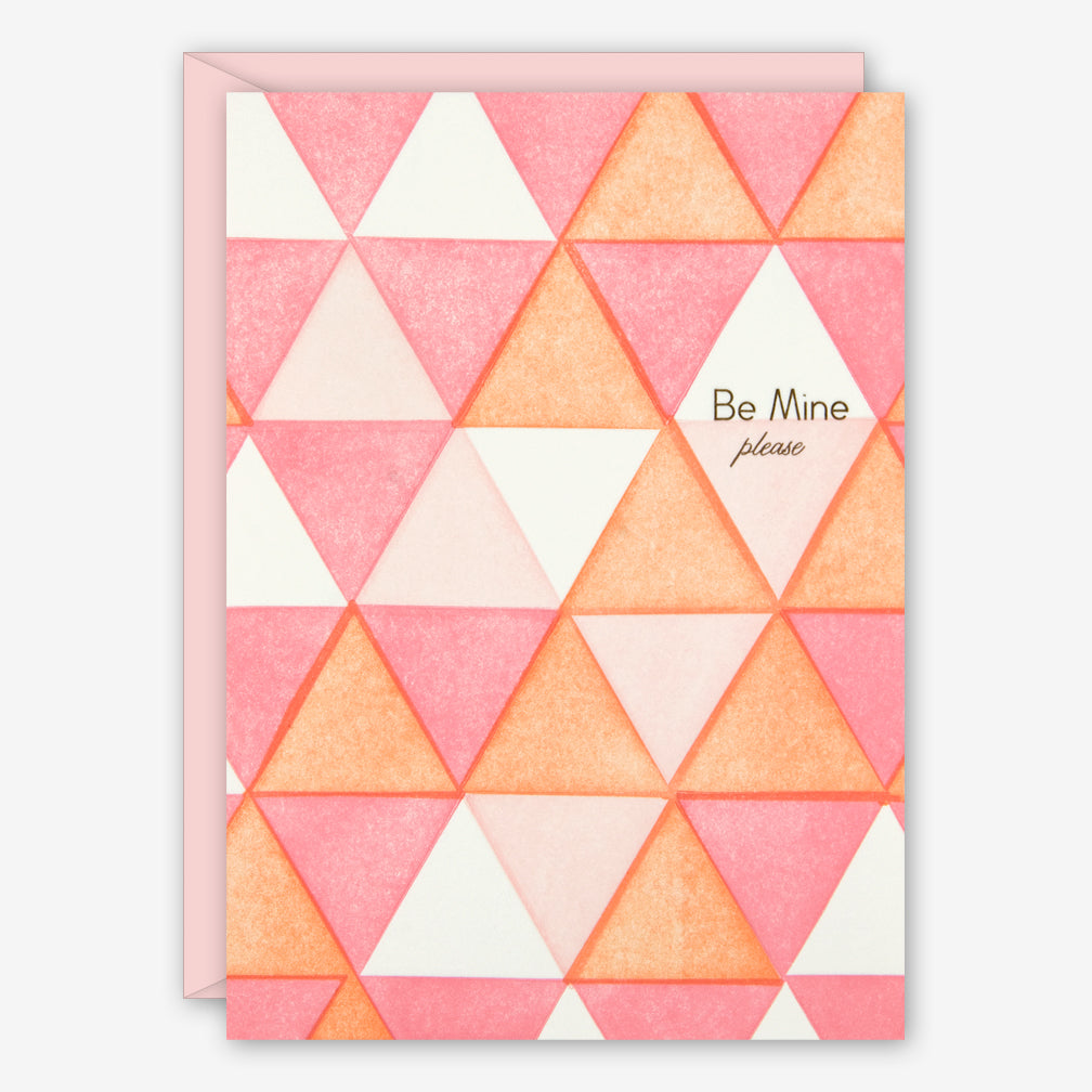 Ilee Papergoods: Love Card: Triangles, Be Mine, Please