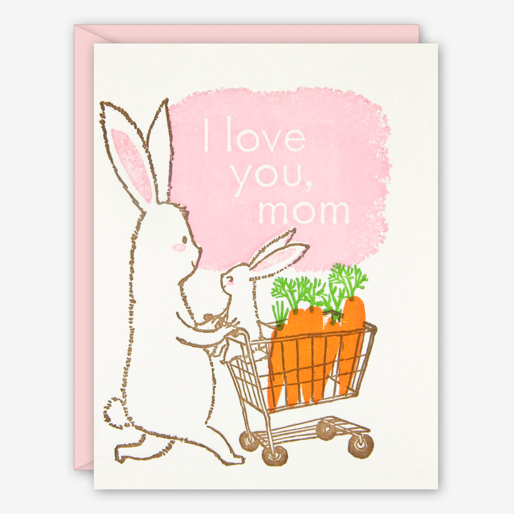 Ilee Papergoods: Mother's Day Card: Rabbits, I Love You, Mom