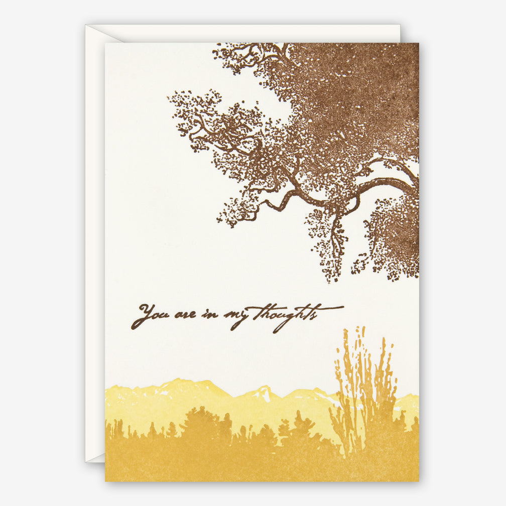 Ilee Papergoods: Sympathy Card: Trees, You Are In My Thoughts