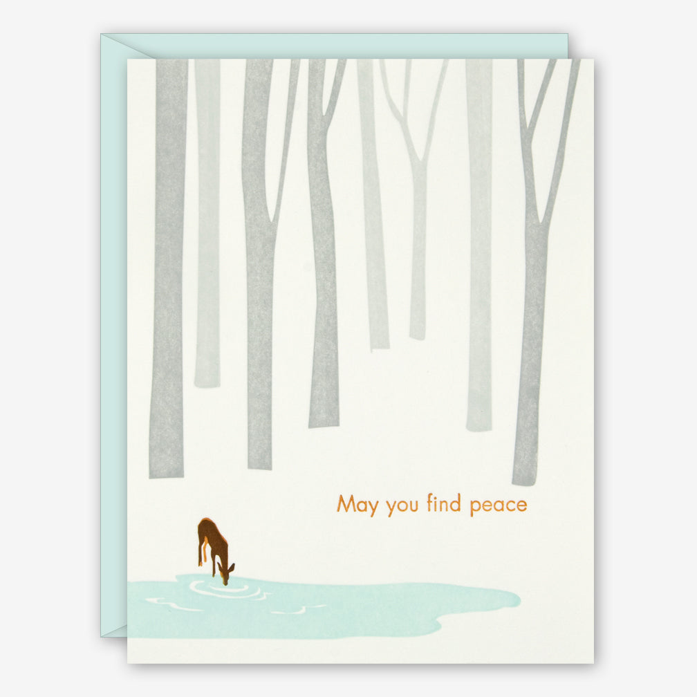 Ilee Papergoods: Sympathy Card: Deer, May You Find Peace