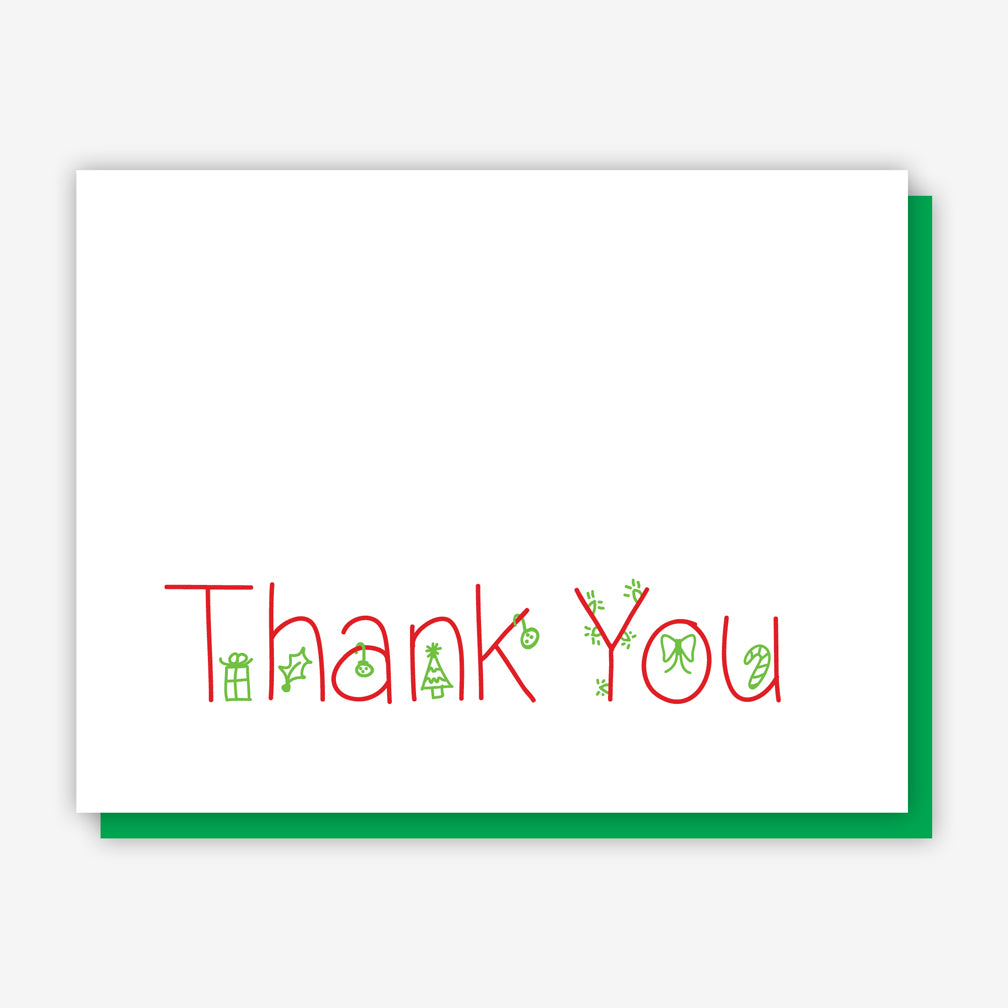 Jake Sam Christmas Thank You Card Multi Eight Pack Fresh Crafts