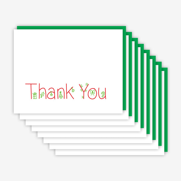 Jake & Sam: Christmas Thank You Card Multi Eight Pack