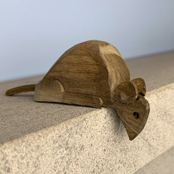 Joe Offerman: Brown Handcarved Shelf Mouse