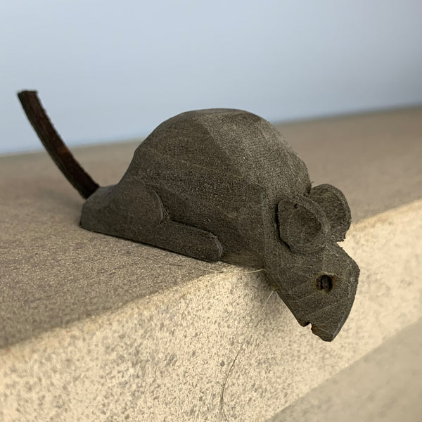 Joe Offerman: Gray Handcarved Shelf Mouse