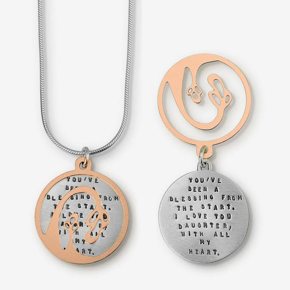 Kathy Bransfield Jewelry: Quote Necklace: Blessing Daughter