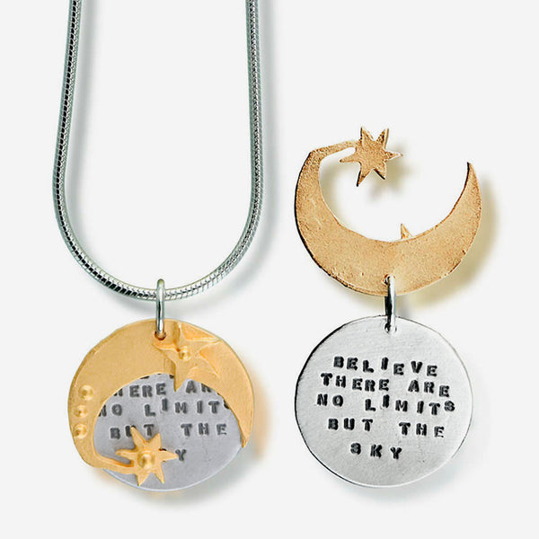 Kathy Bransfield Jewelry: Quote Necklace: Cervantes Sky
