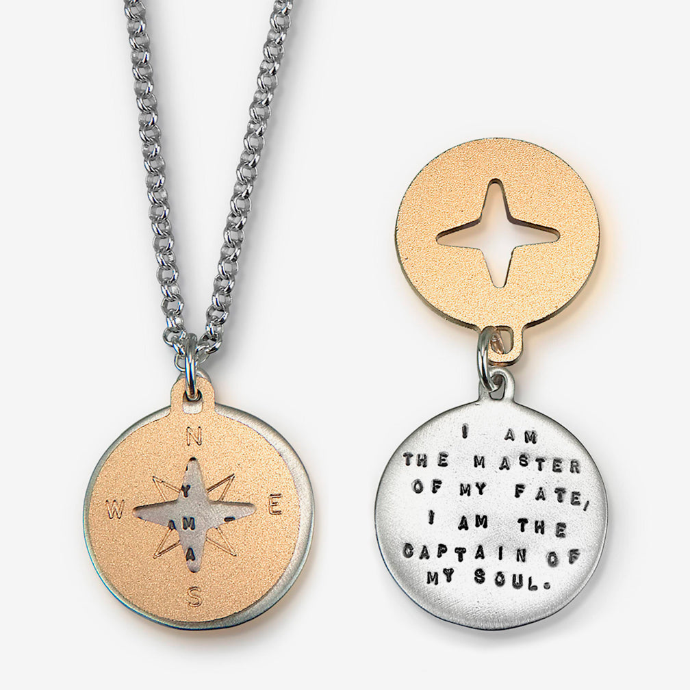Kathy Bransfield Jewelry: Quote Necklace: Compass