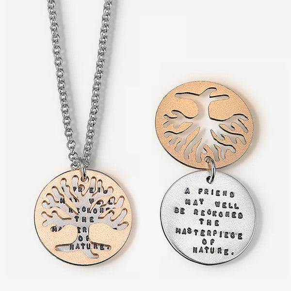 Kathy Bransfield Jewelry: Quote Necklace: Emerson Tree