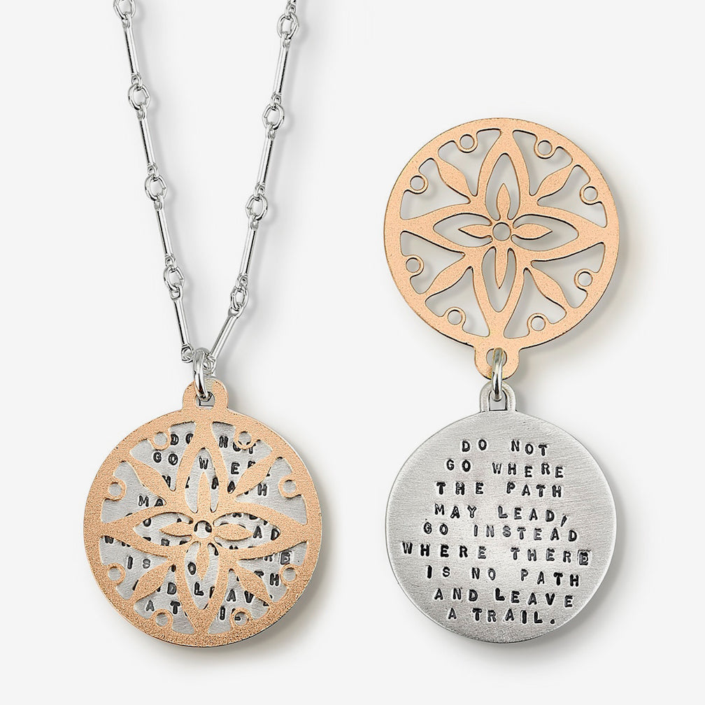 Kathy Bransfield Jewelry: Quote Necklace: Leave a Trail