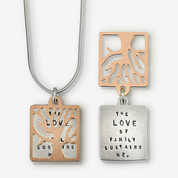 Kathy Bransfield Jewelry: Quote Necklace: Love of Family