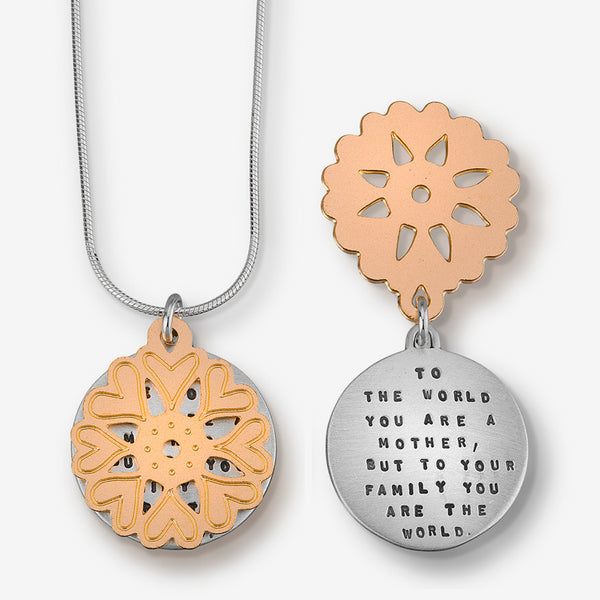 Kathy Bransfield Jewelry: Quote Necklace: Mother of the World
