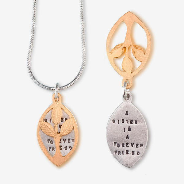Kathy Bransfield Jewelry: Quote Necklace: Sisters