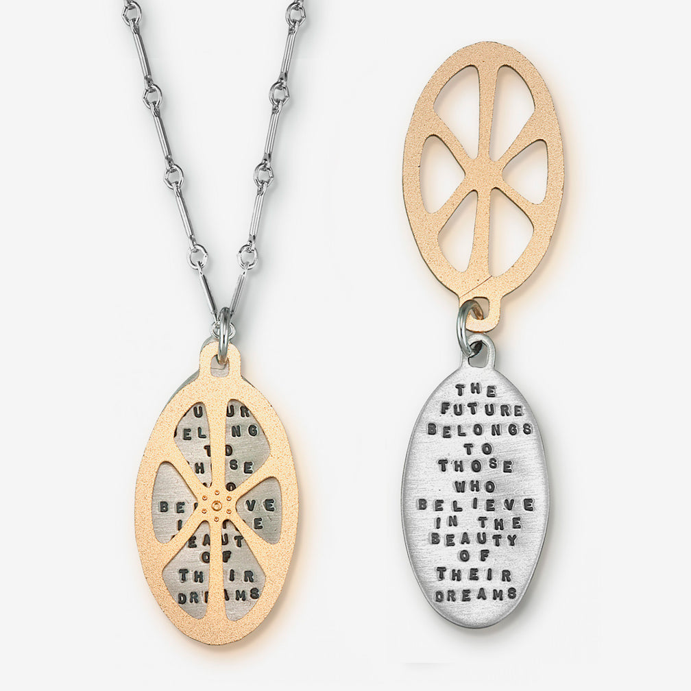 Kathy Bransfield Jewelry: Quote Necklace: The Future