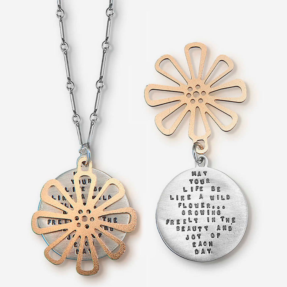 Kathy Bransfield Jewelry: Quote Necklace: Wild Flower