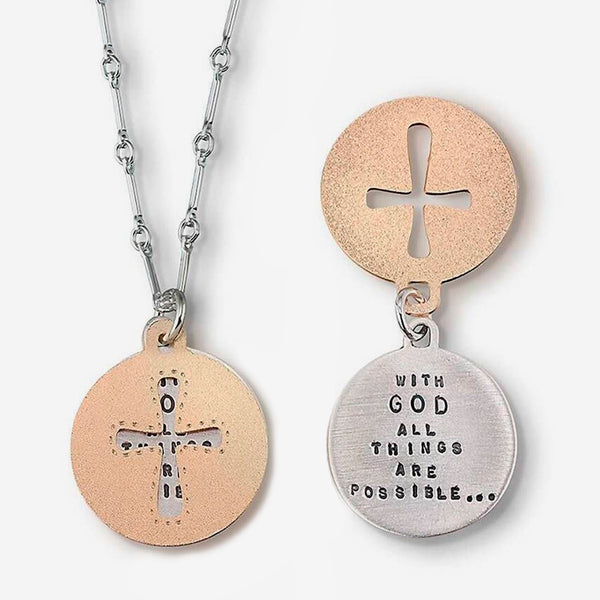 Kathy Bransfield Jewelry: Quote Necklace: With God All Things