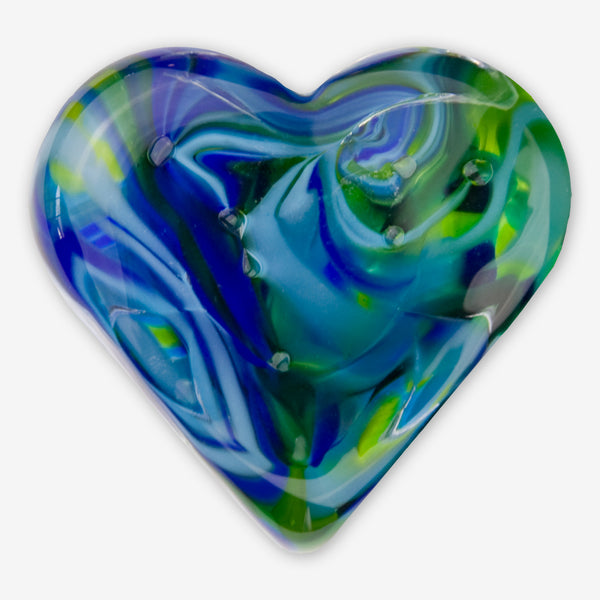 Kingston Glass Studio: Sweet Hearts: Blue Green
