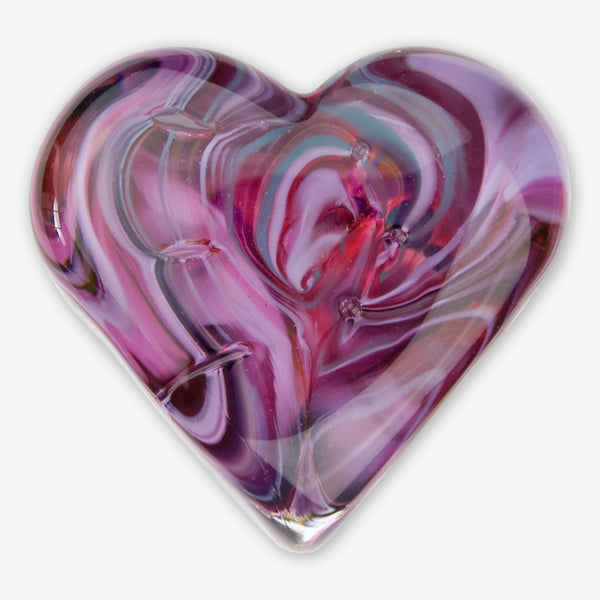 Kingston Glass Studio: Sweet Hearts: Purple