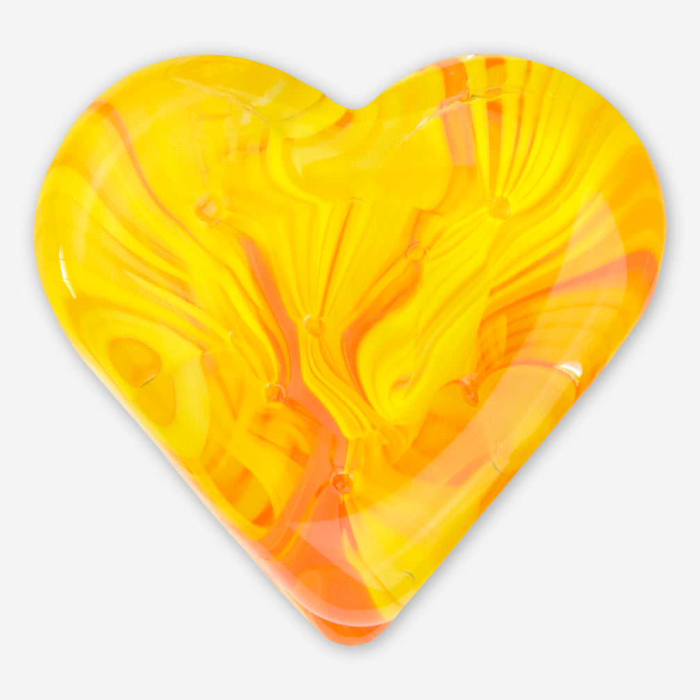 Kingston Glass Studio: Sweet Hearts: Yellow