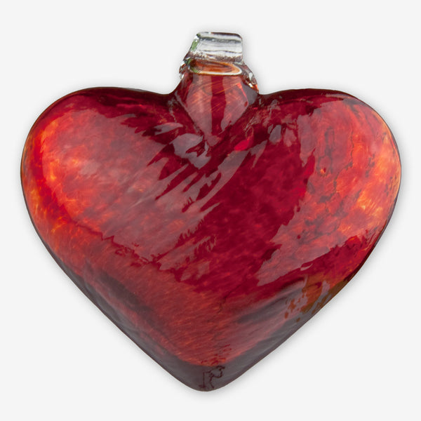 Kitras Art Glass: Red Hearts of Glass