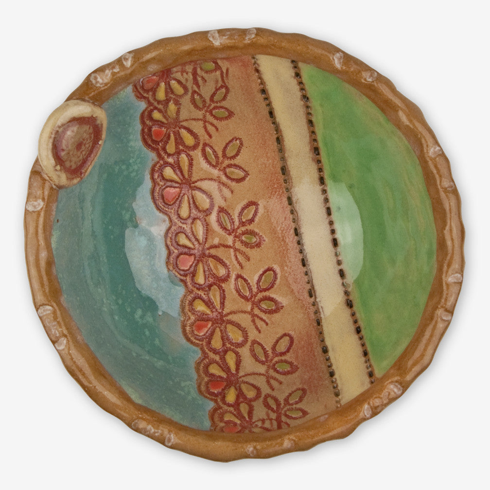Laurie Pollpeter Eskenazi: Little Bowls: Teal & Green
