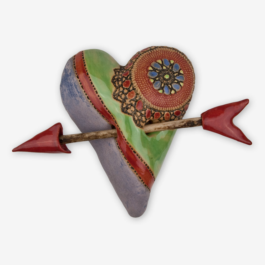 Laurie Pollpeter Eskenazi: Small Heart with Arrow: Little Jester