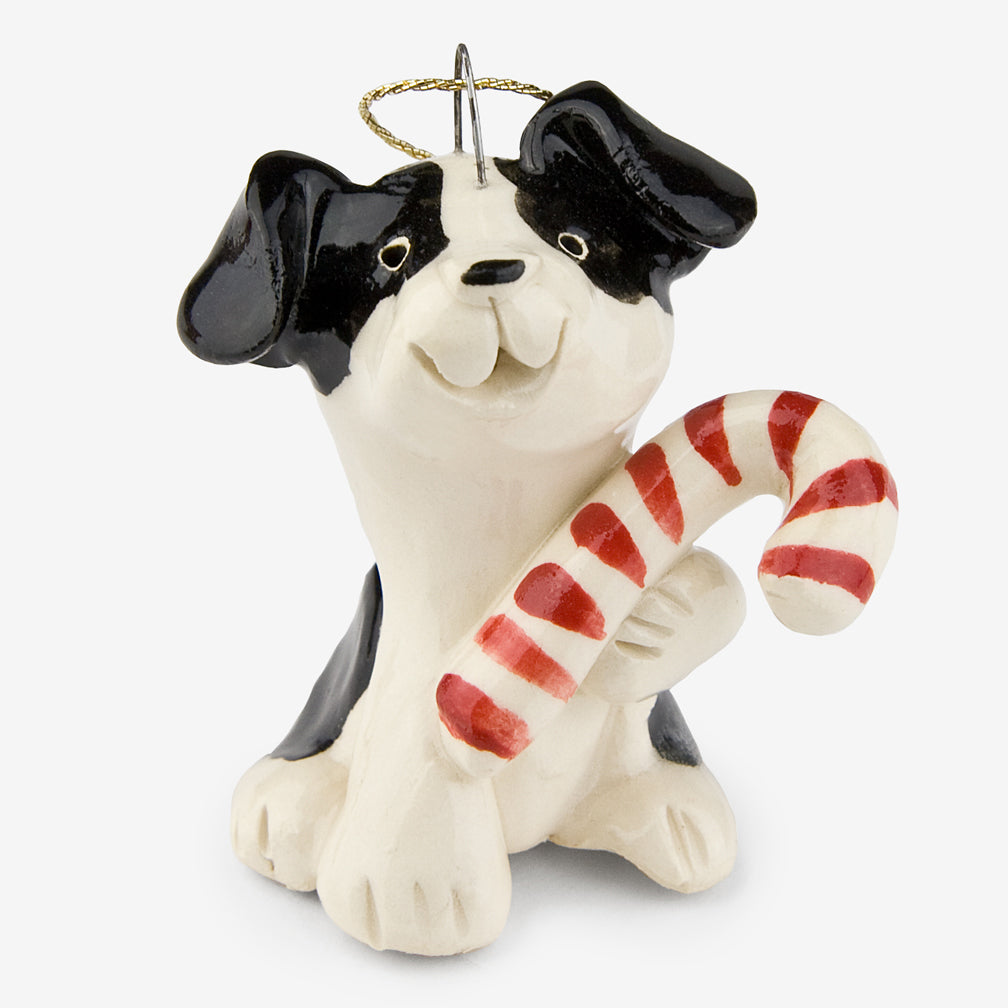 Little Guys: Ceramic Ornament: Candy Dog