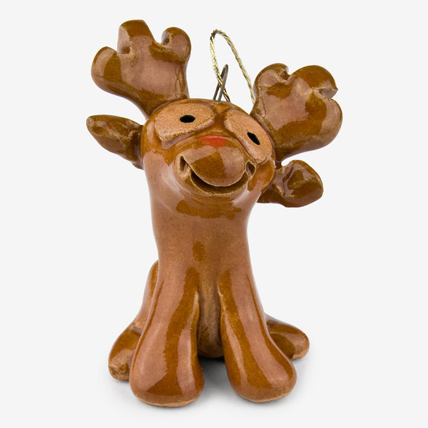 Little Guys: Ceramic Ornament: Reindeer