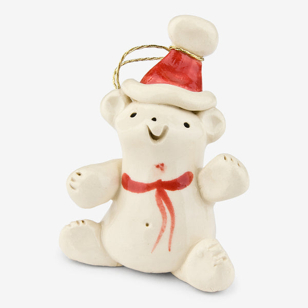 Little Guys: Ceramic Ornament: Santa Bear