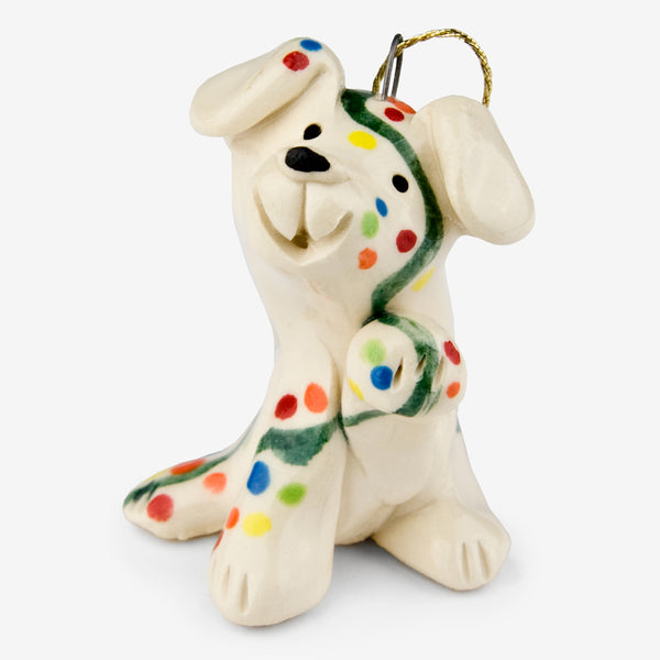 Little Guys: Ceramic Ornament: Twinkle Dog