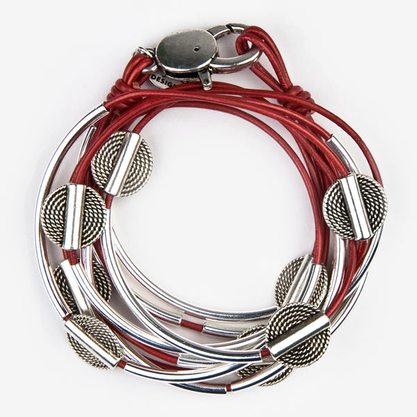Lizzy James: Lizzy Disc Wrap: Metallic Moroccan Red