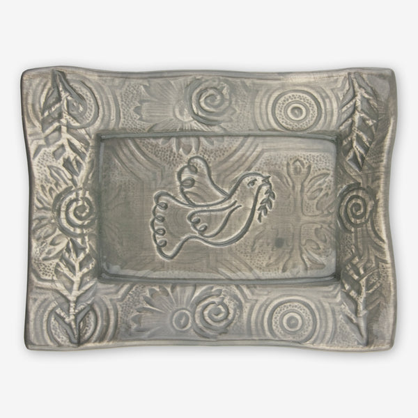 Lorraine Oerth & Company: Ceramic Cookie Tray: Grey Dove