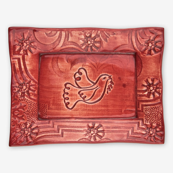 Lorraine Oerth & Company: Ceramic Cookie Tray: Red Dove