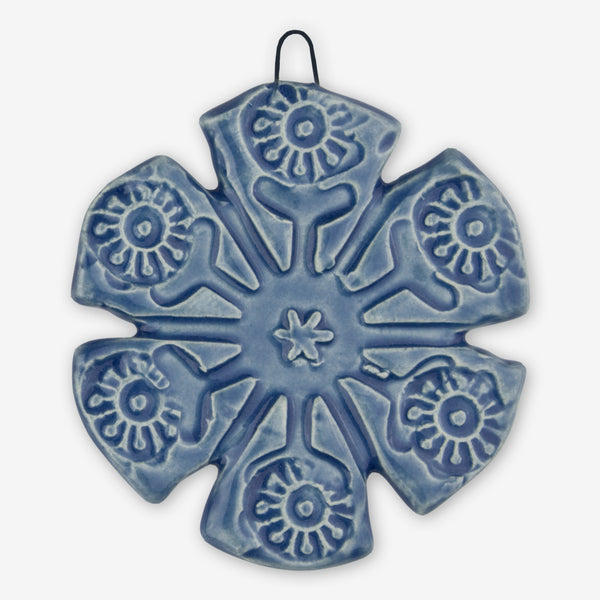 Lorraine Oerth & Company: Ceramic Ornaments: Blue Snowflake