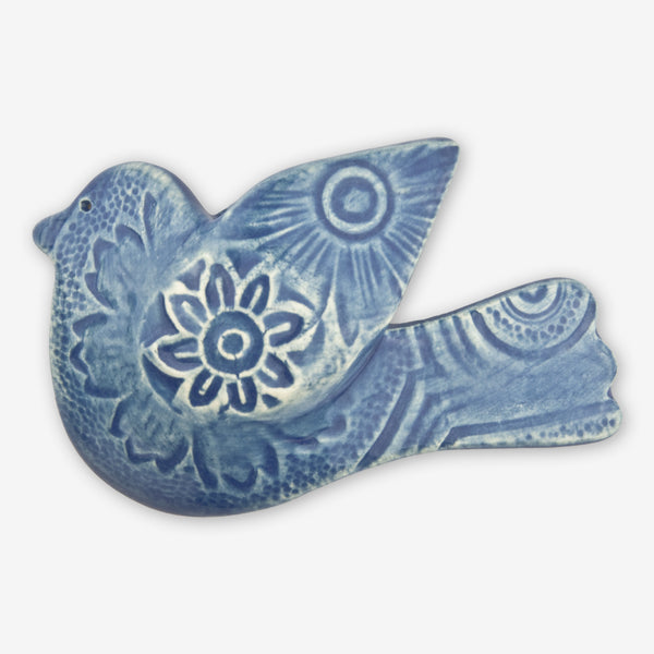 Lorraine Oerth & Company: Ceramic Ornaments: Blue Peace Bird