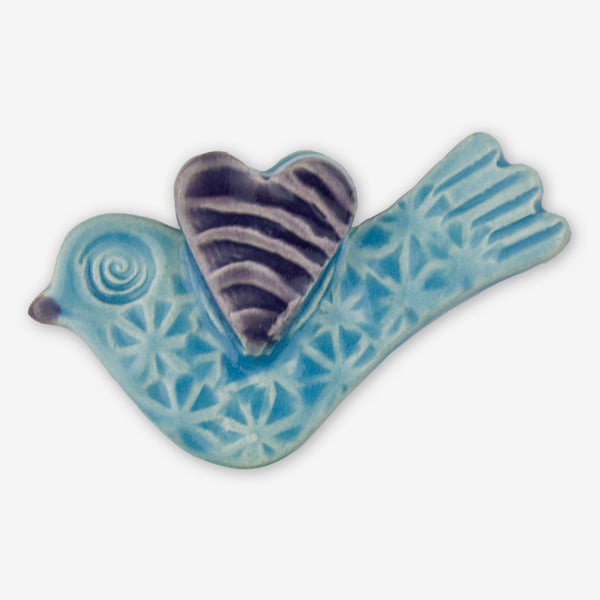 Lorraine Oerth & Company: Ceramic Ornaments: Light Blue Birdie