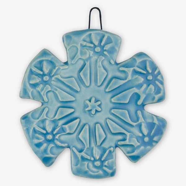 Lorraine Oerth & Company: Ceramic Ornaments: Light Blue Snowflake