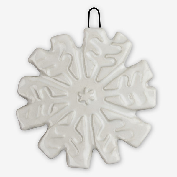Lorraine Oerth & Company: Ceramic Ornaments: White Snowflake
