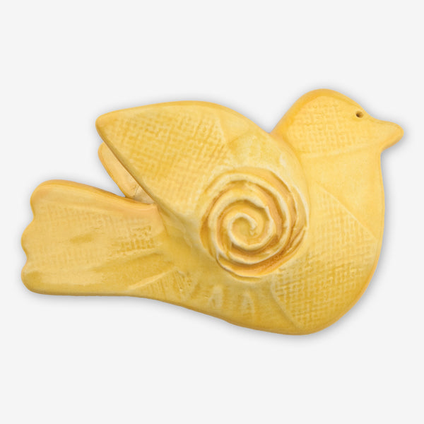 Lorraine Oerth & Company: Ceramic Ornaments: Yellow Peace Bird