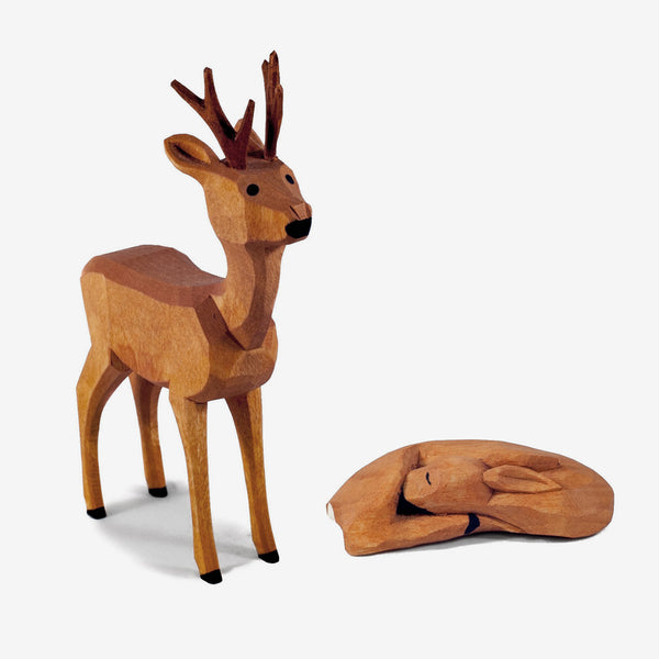 Lotte Sievers-Hahn Nativity: Deer, Young Buck and Doe